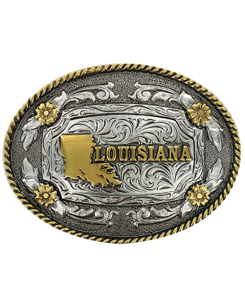 Cody James Men's Antiqued Oval Louisiana Belt Buckle, Multi, hi-res
