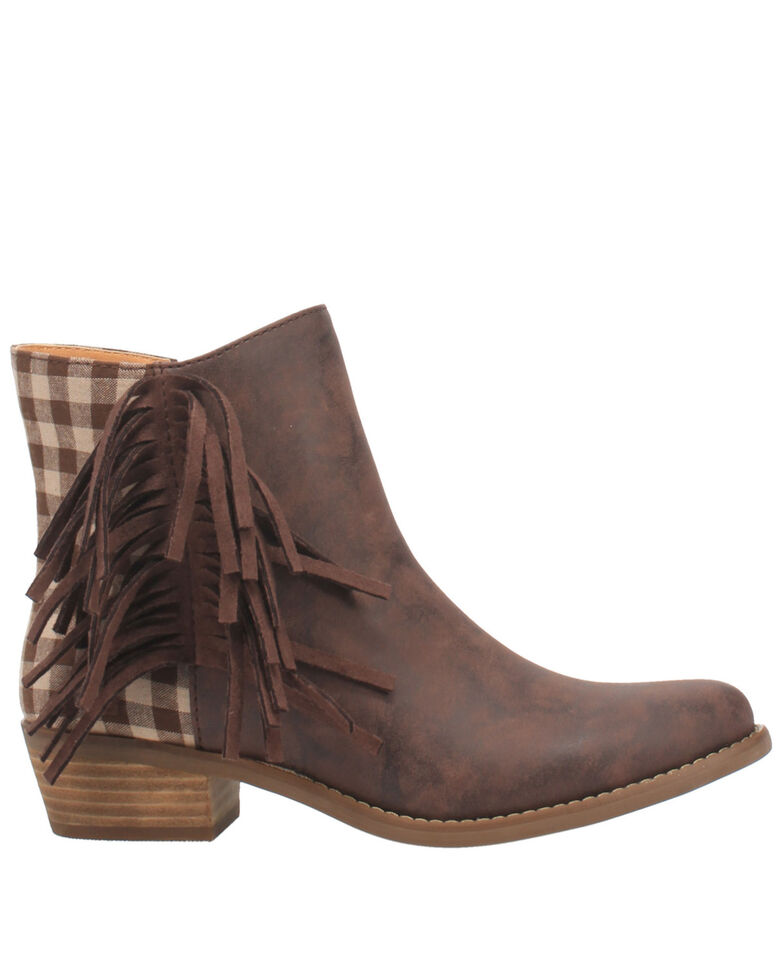 Code West Women's Low Key Fashion Booties - Round Toe, Brown, hi-res