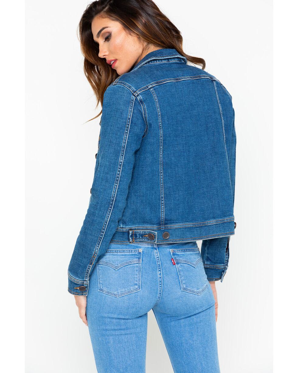 Wrangler Women's Western Denim Fashion Jacket, Indigo, hi-res