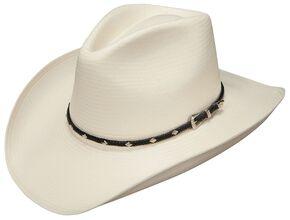 62c26fceb596 Stetson Diamond Jim 8X Shantung Straw Cowboy Hat