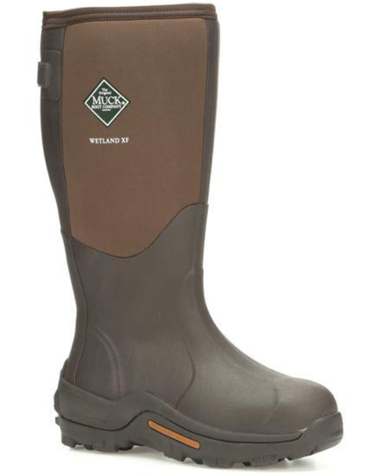 Muck Boots Men's Wetland XF Rubber Boots - Round Toe, Brown, hi-res