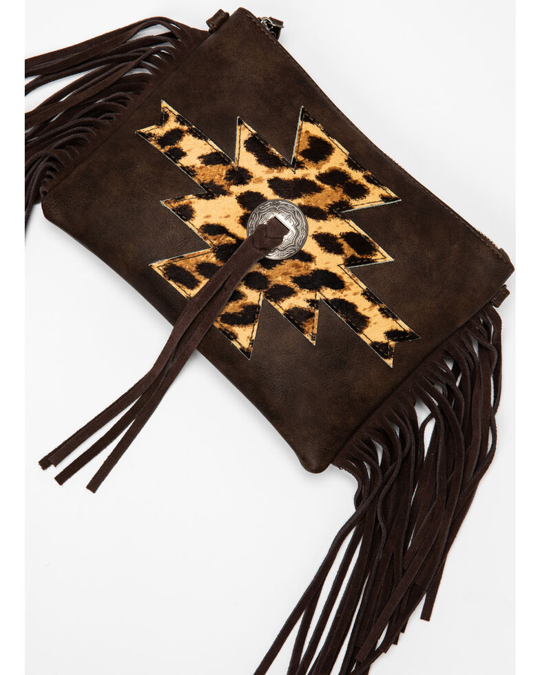 Shyanne Women's Leopard Fringe Crossbody Bag, Leopard, hi-res