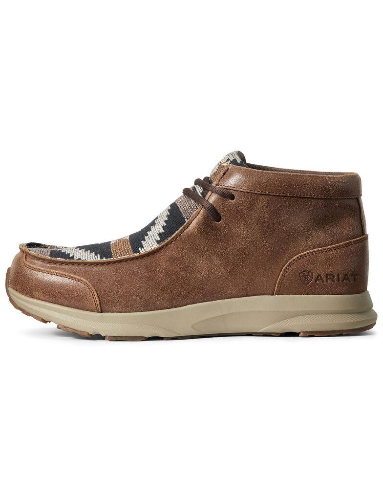 Ariat Men's Spitfire Aztec Print Shoes - Moc Toe, Brown, hi-res