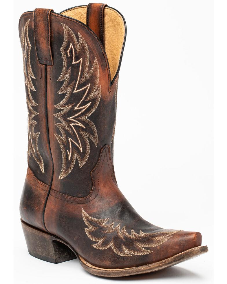 Moonshine Spirit Men's Lincoln Western Boots - Snip Toe, Black/brown, hi-res