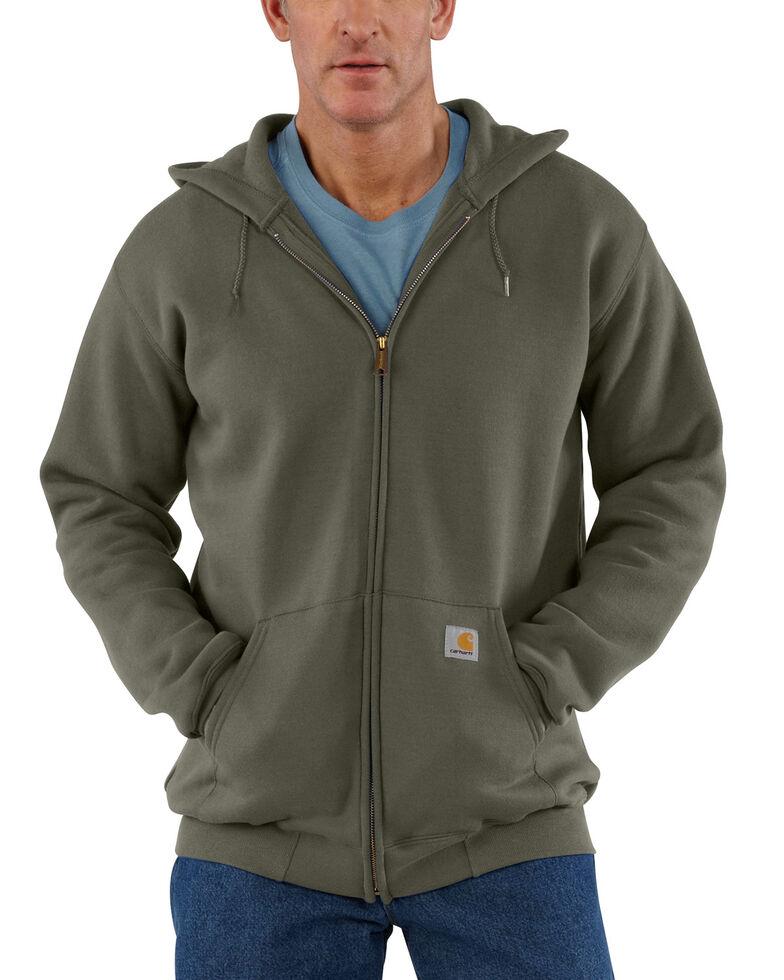 Carhartt Men's Hooded Zip Hoodie - Big & Tall, Moss Green, hi-res