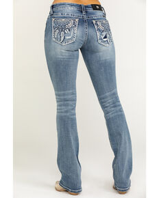 "Miss Me Women's Blue Dreamcatcher 34"" Bootcut Jeans, Blue, hi-res"
