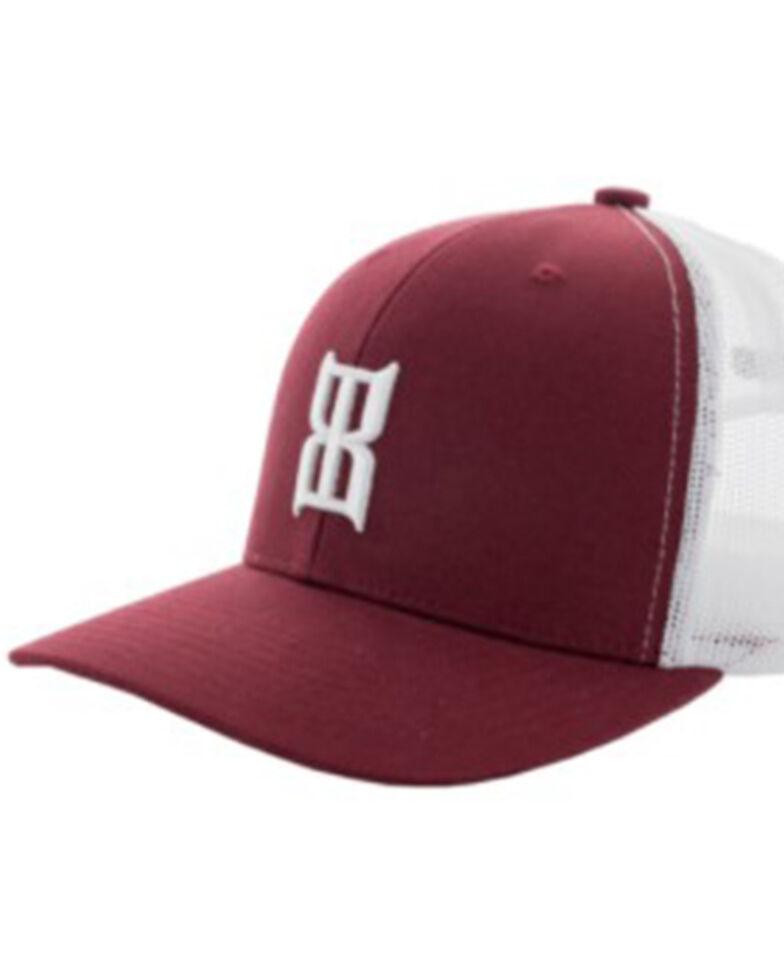 Bex Men's Red & White Steel Logo Mesh-Back Ball Cap , Red, hi-res
