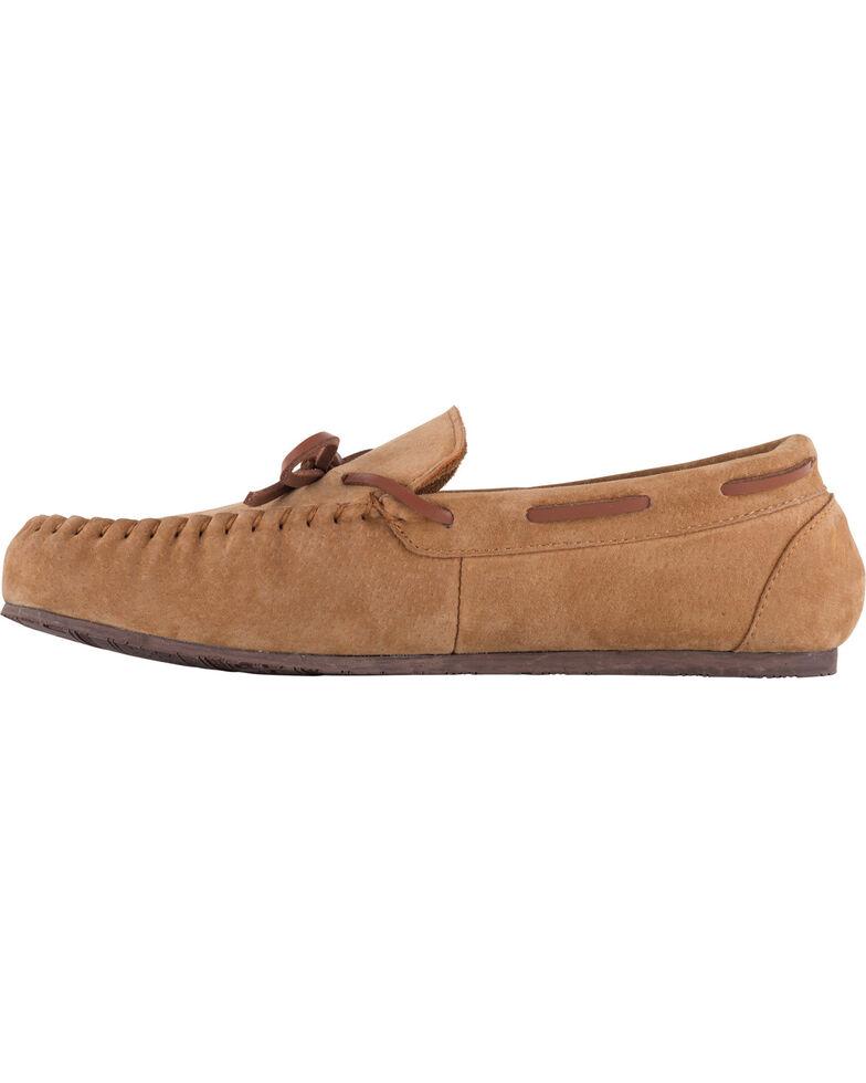 Lamo Footwear Men's Aiden Suede Lace Moccasins - Moc Toe, Chestnut, hi-res