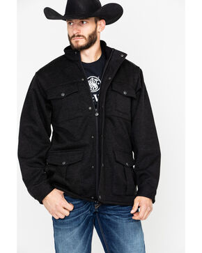 Outback Trading Men's Softshell Reid Snap Jacket , Black, hi-res