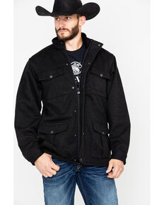 Outback Trading Co. Men's Softshell Reid Snap Jacket , Black, hi-res