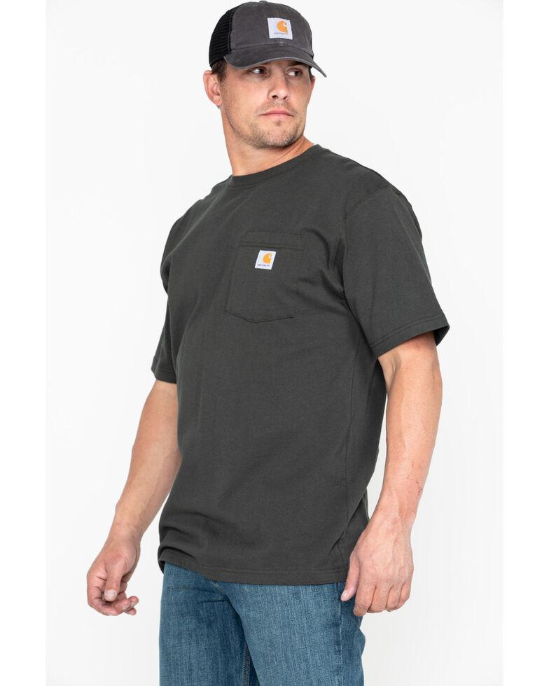 Carhartt Short Sleeve Pocket Work T-Shirt, Bark, hi-res