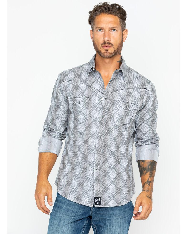 Wrangler Rock 47 >> Rock 47 By Wrangler Men S Plaid Long Sleeve Western Shirt