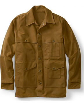 Filson Men's Tin Cloth Cruiser Jacket - Extra Long, Tan, hi-res