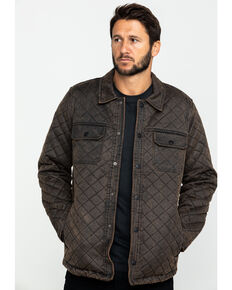 Moonshine Spirit Men's Rockwell Oil Skin Shirt Jacket , Brown, hi-res