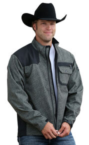 Cinch Men's Multi Colored Bonded Jacket, Olive, hi-res