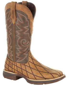 Durango Women's Lady Rebel Patchwork Western Boots - Square Toe, Brown, hi-res