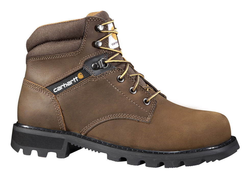 "Carhartt Men's 6"" Lace-Up Work Boots - Steel Toe, Brown, hi-res"