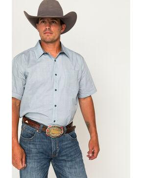 Cody James Men's Patterned Short Sleeve Shirt, Light/pastel Blue, hi-res