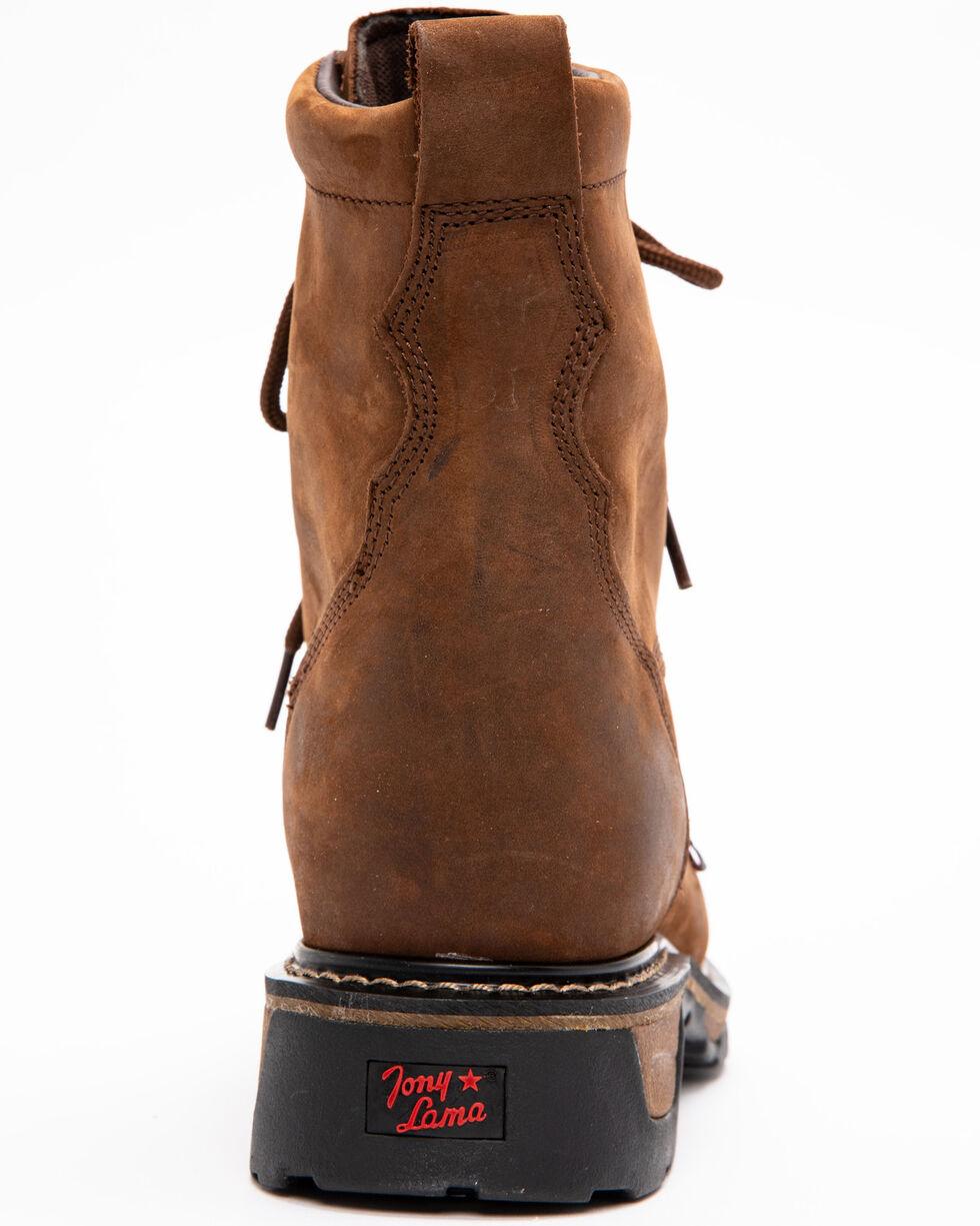 "Tony Lama 8"" Lace-Up Work Boots - Steel Toe, Tan, hi-res"