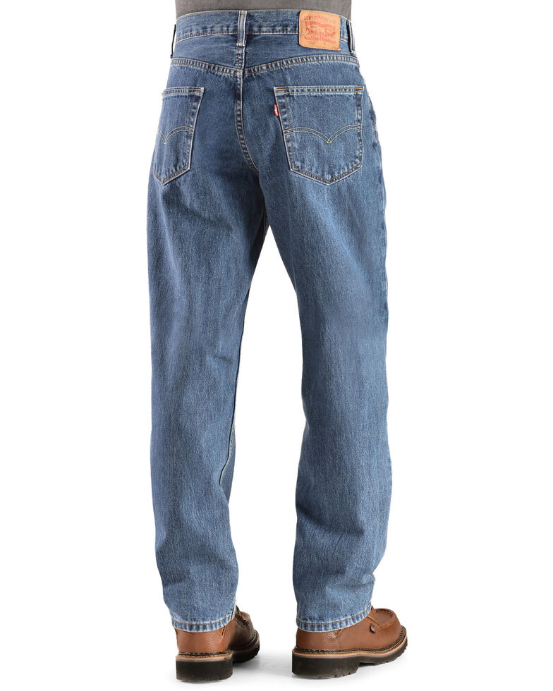 Levi's Men's 550 Prewashed Relaxed Tapered Leg Jeans , Stonewash, hi-res