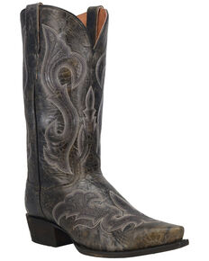 Dan Post Men's Black Falco Western Boots - Snip Toe, Black, hi-res