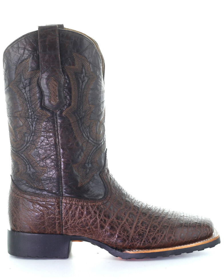 Corral Men's Ostrich Western Boots - Square Toe, Brown, hi-res