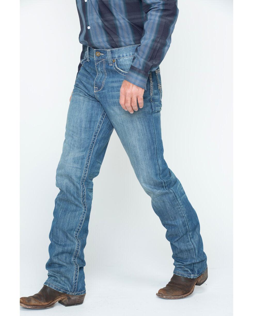 Cody James Men's Whip Stitch Boot Cut Jeans , Blue, hi-res