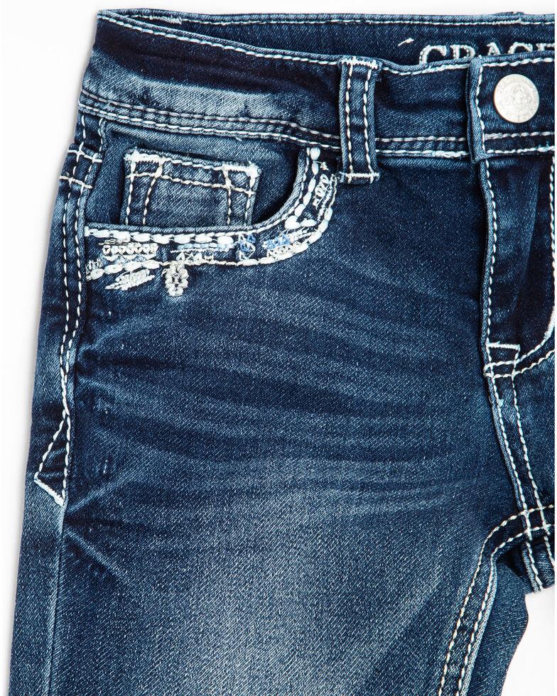 Grace in LA Toddler Girls' Aztec Pocket Bootcut Jeans, Blue, hi-res