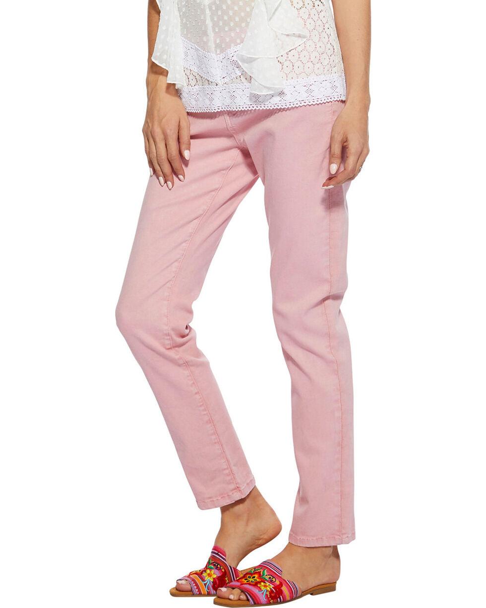 Angel Premium Women's Pink Melania Jeans - Straight Leg , Pink, hi-res