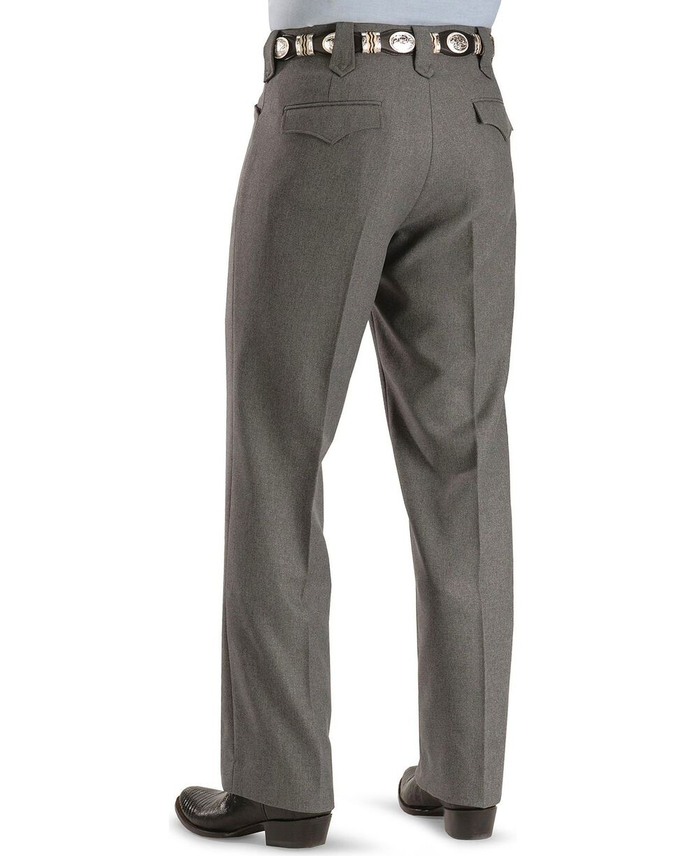"Circle S Stretch Slacks - Big - Up to 50"" Waist, Hthr Grey, hi-res"