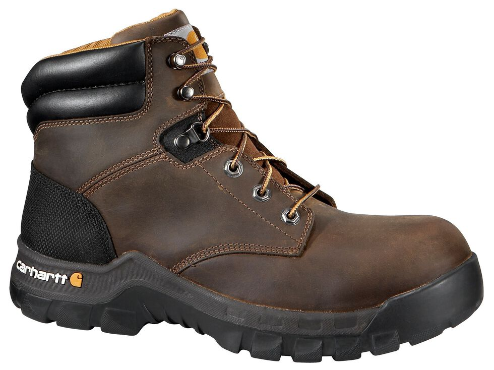 """Carhartt Work Flex 6"""" Lace-Up Work Boots - Composite Toe, Brown, hi-res"""