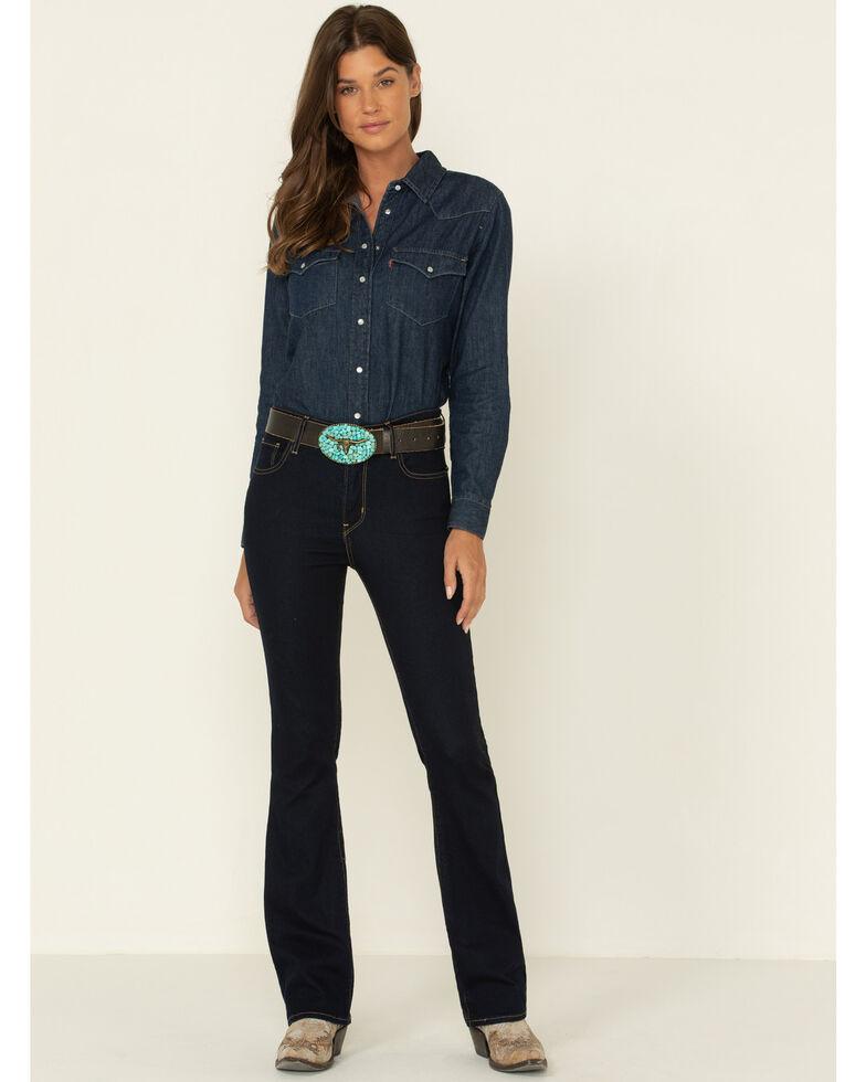 Levi's Women's Dark Horse High Rise 725 Bootcut Jeans  , Blue, hi-res