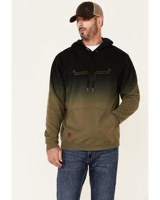 Kimes Ranch Men's Black Layton Dip Dye Hooded Sweatshirt , Black, hi-res