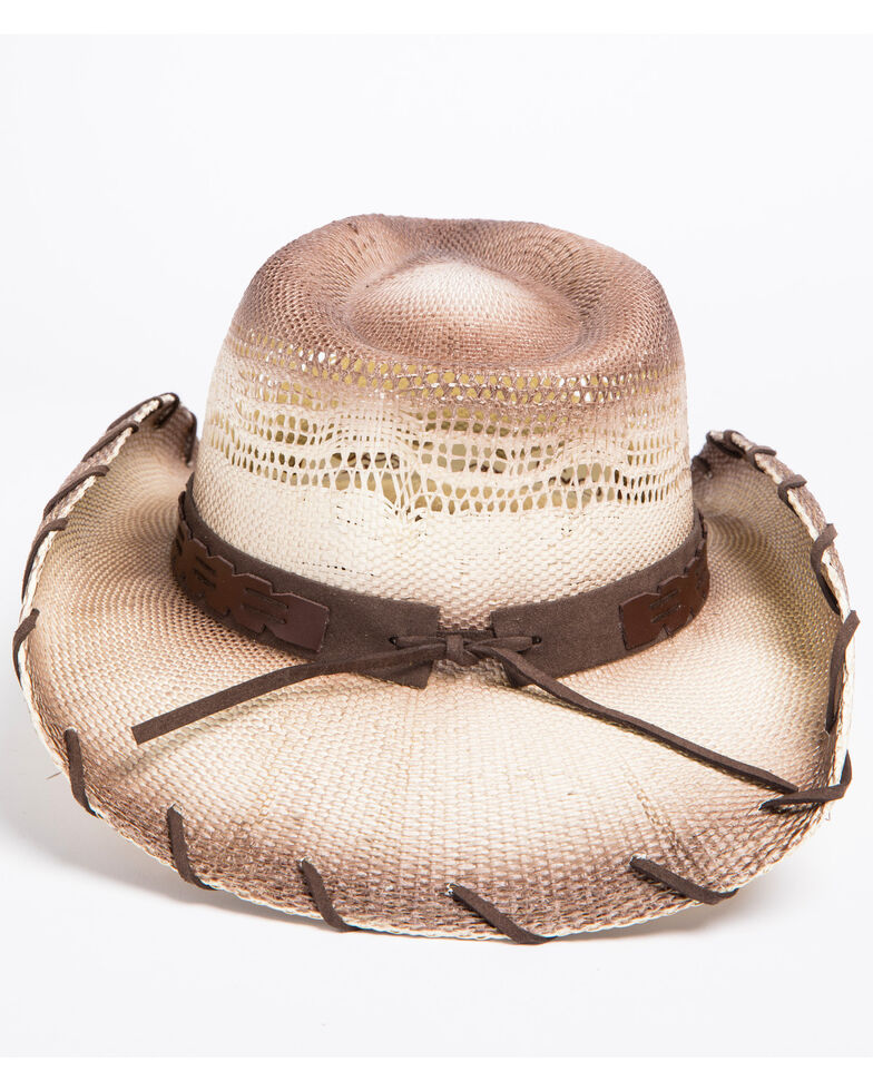 Shyanne Women's Beaded Concho Band Cowgirl Hat, Brown, hi-res