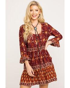 Idyllwind Women's The Sweet Revenge Dress, Burgundy, hi-res