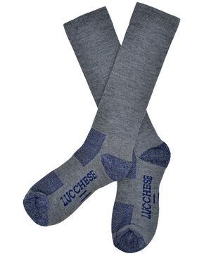 Lucchese Men's Grey Wool Socks , Grey, hi-res
