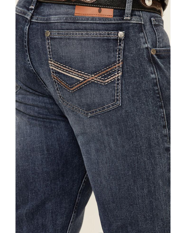 Wrangler 20X Men's River Vintage Stretch Slim Bootcut Jeans , Blue, hi-res
