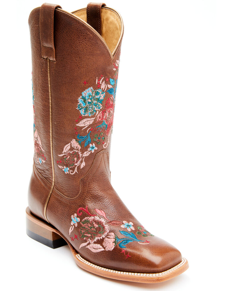 Shyanne Women's Delilah Western Boots - Wide Square Toe, Brown, hi-res