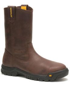 Caterpillar Men's Drawbar Western Work Boots - Steel Toe, Brown, hi-res