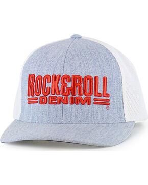 Rock & Roll Cowboy Men's Grey Airmesh and Red Logo Cap , Grey, hi-res