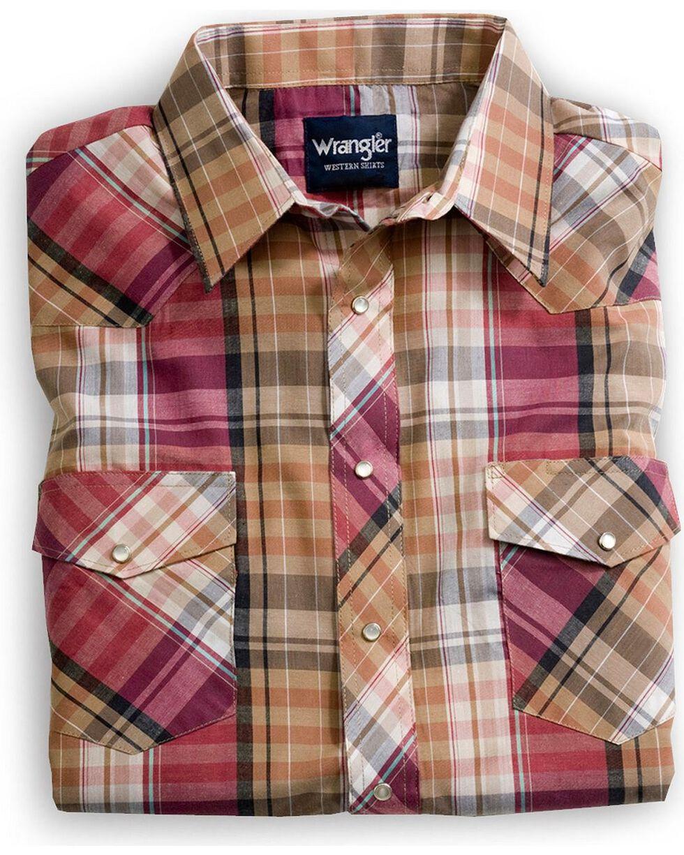 Wrangler Assorted Stripe or Plaid Classic Long Sleeve Western Shirt, Plaid, hi-res