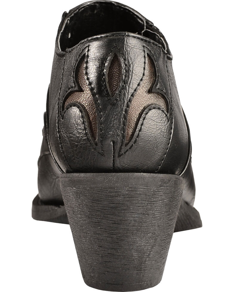 Roper Inlay Ankle Boots - Pointed Toe, Black, hi-res