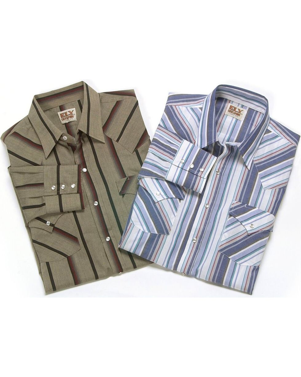 Ely Assorted Long Sleeve Western Shirt - Big & Tall, Stripe, hi-res