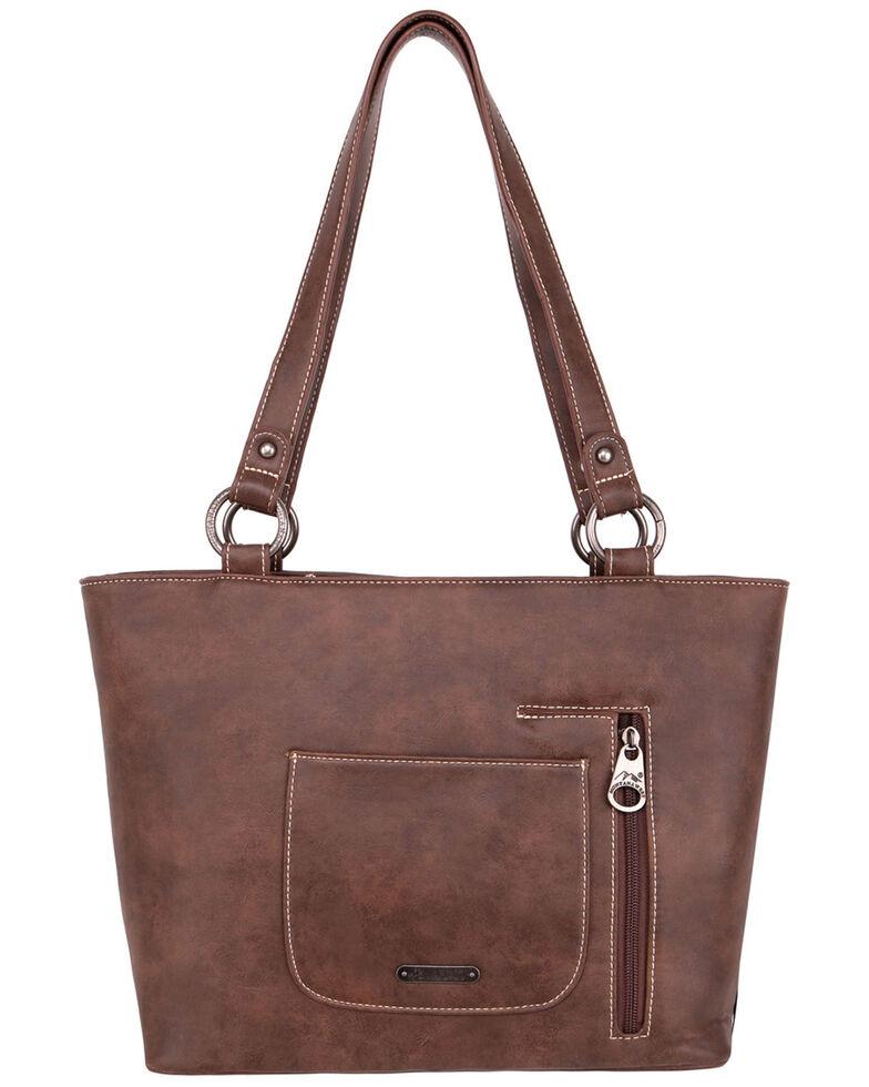 Montana West Women's Fringe Tote Bag, Brown, hi-res