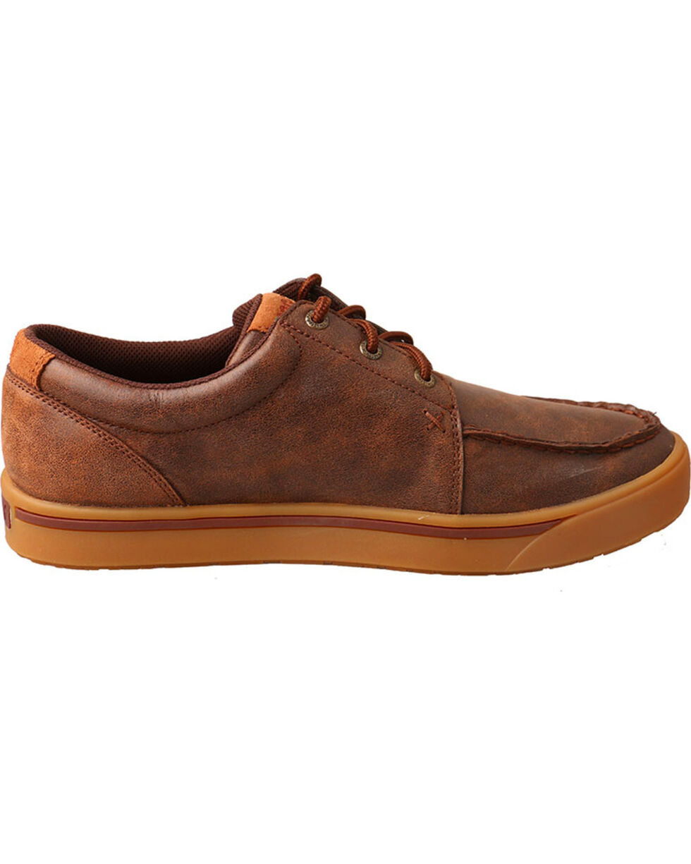 Twisted X Men's Hooey Leather Lace-Up Shoes - Moc Toe, Brown, hi-res