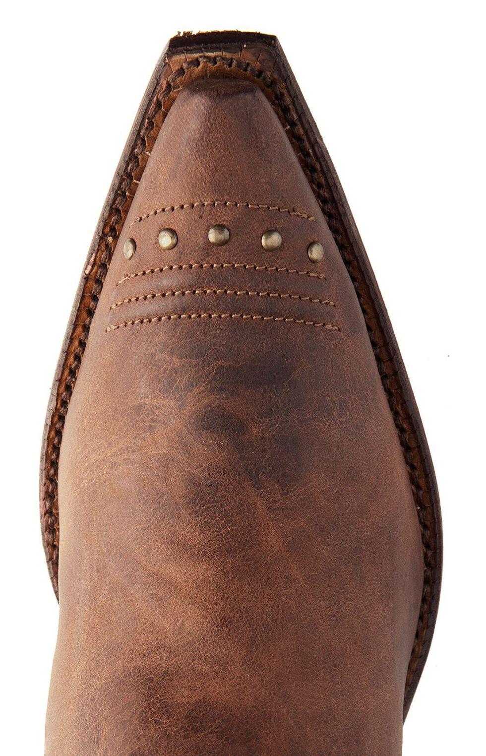 Tony Lama Vaquero with Fringe Mosto Tucson Cowgirl Boots - Snip Toe, Brown, hi-res