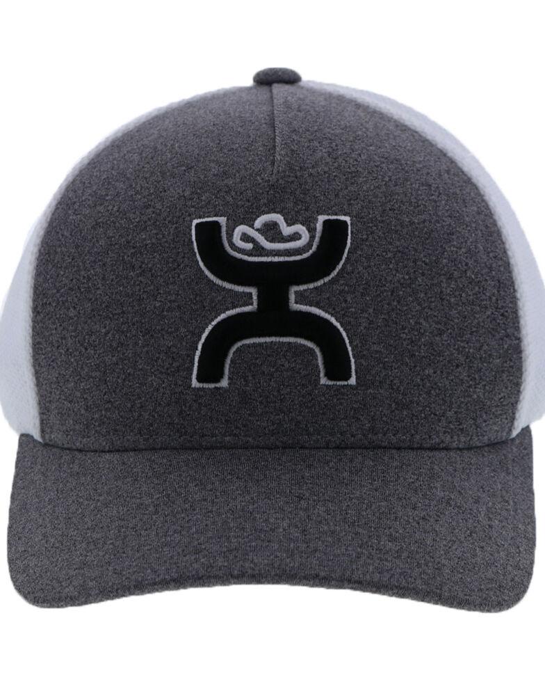 HOOey Men's Coach Soft Mesh Flex Fit Cap , Grey, hi-res