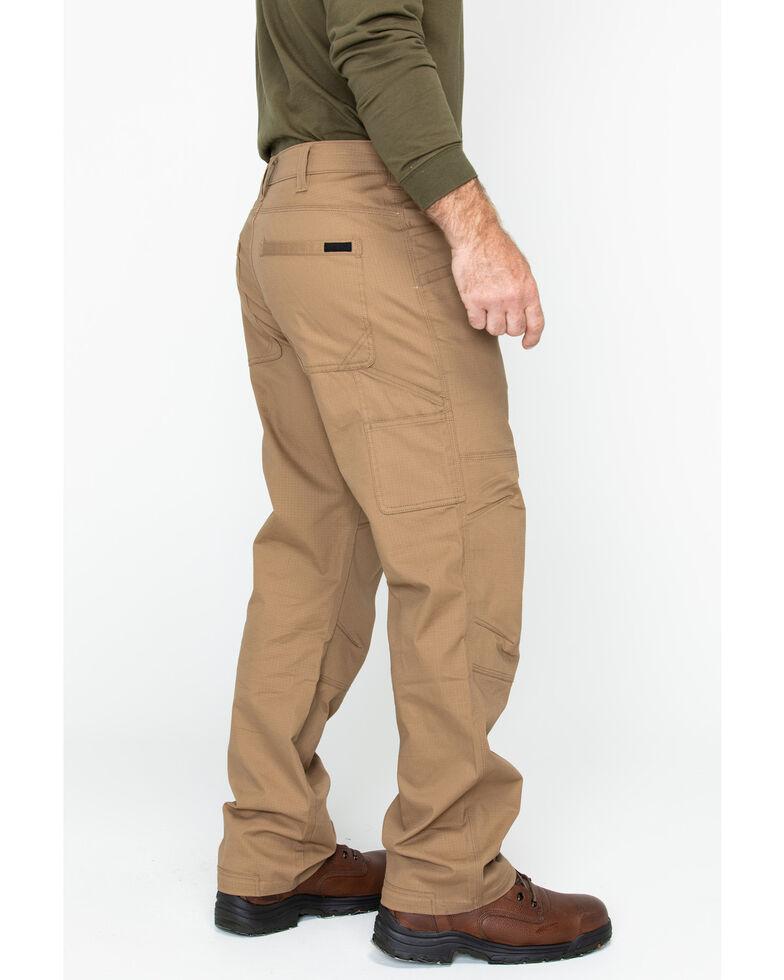 Hawx Men's Brown Stretch Ripstop Utility Work Pants - Big , Brown, hi-res