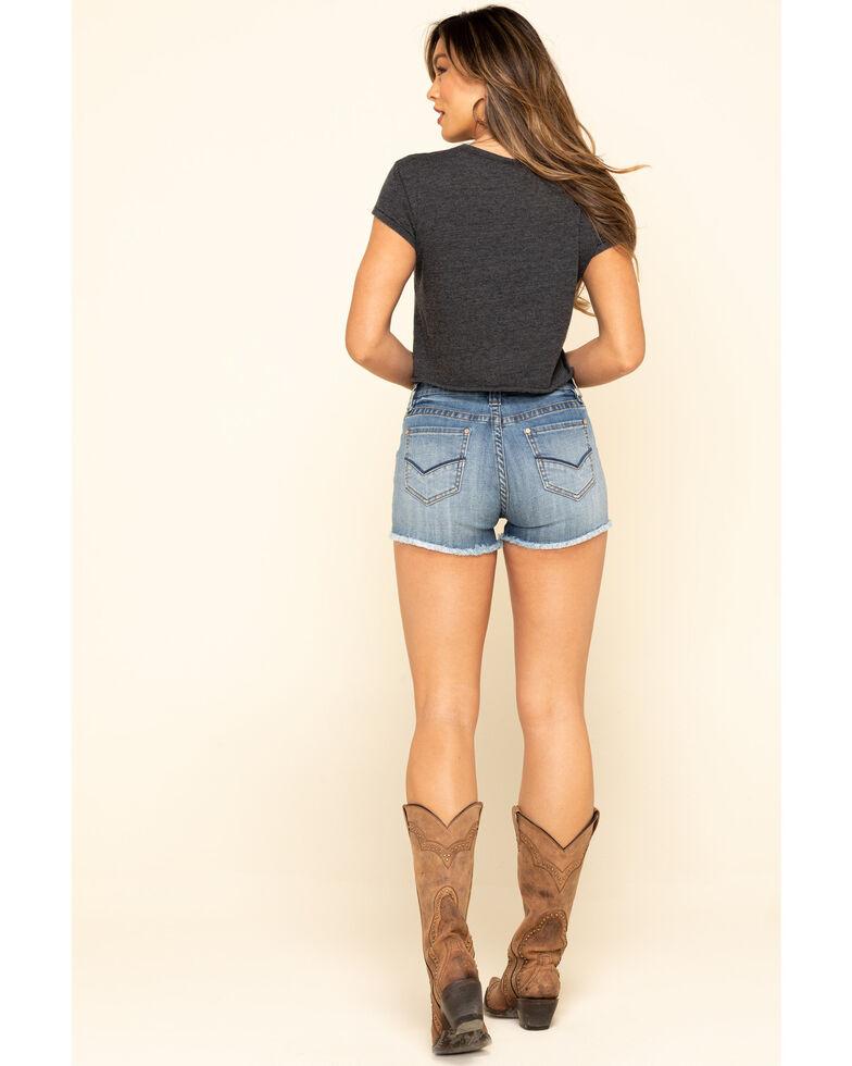 Panhandle Women's Light Wash Button Shorts, Blue, hi-res