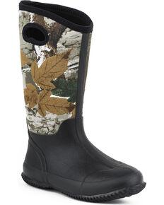 Women's Roper Barnyard Camo Neoprene Boots, Black, hi-res